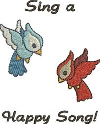 Happy Song Birds embroidery design