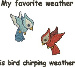 Chirping Weather Birds embroidery design