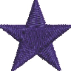 Blue Star embroidery design
