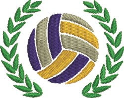 Volleyball Wreath embroidery design