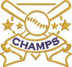 Baseball Champs embroidery design