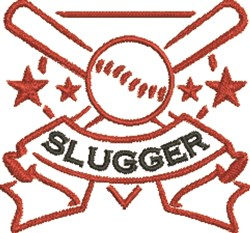 Baseball Slugger embroidery design