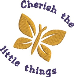 Little Things Butterfly embroidery design