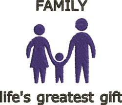 Family Gift embroidery design