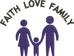 Faith Love Family embroidery design