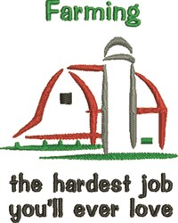 Farming Job embroidery design