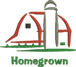 Homegrown embroidery design