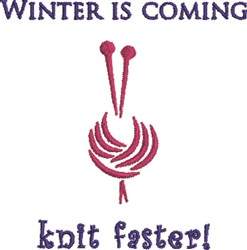 Knit Faster embroidery design