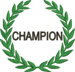 Champion Wreath embroidery design