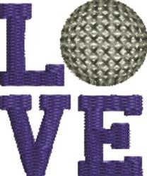Love Golf embroidery design