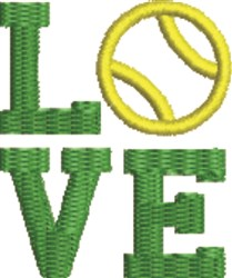 Love Tennis embroidery design