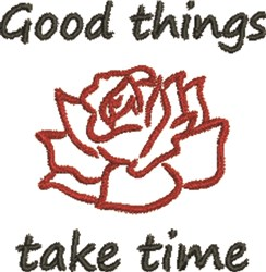 Good Things Rose embroidery design