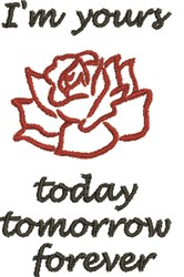 Im Yours Rose embroidery design