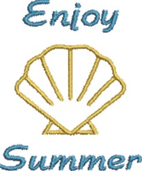 Enjoy Summer embroidery design
