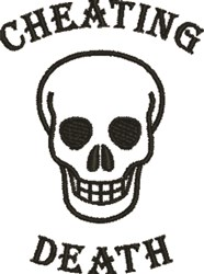 Cheating Death Skull embroidery design