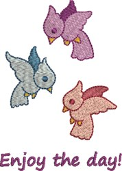 Enjoy The Day embroidery design