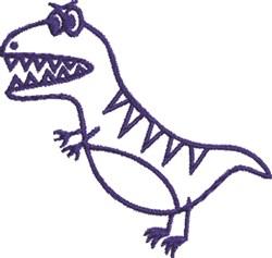 T Rex Dinosaur embroidery design
