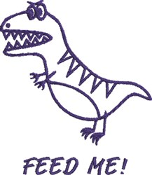 Hungry Dinosaur embroidery design