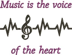 Voice Of Heart embroidery design