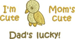 Dads Lucky Bird embroidery design