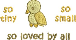 Loved By All embroidery design