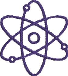 Atomic Symbol embroidery design
