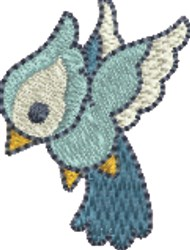 Small Blue Bird embroidery design