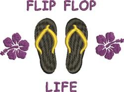 Flip Flop Life embroidery design