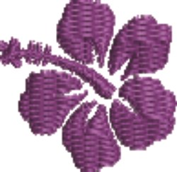 Purple Hibiscus embroidery design