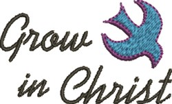 Grow in Christ embroidery design