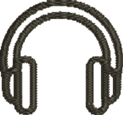 Headphones embroidery design
