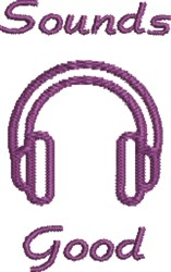 Musical Headphones embroidery design