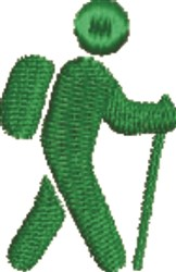 Hiker Silhouette embroidery design