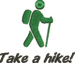 Take A Hike! embroidery design