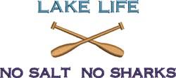 Lake Life Oars embroidery design
