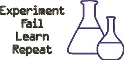 Chemistry Experiment embroidery design