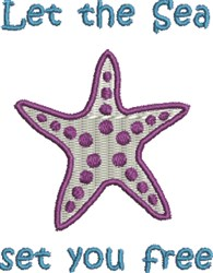 Starfish From The Sea embroidery design