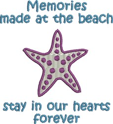 Starfish Memories embroidery design