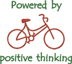 Positive Thinking embroidery design