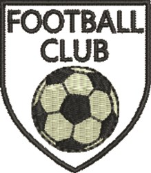 Football Club embroidery design