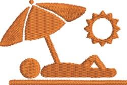 Sunbather embroidery design