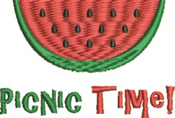 Picnic Time embroidery design
