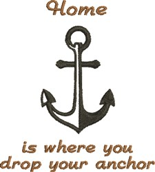 Drop Your Anchor embroidery design