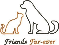 Friends Fur-ever embroidery design
