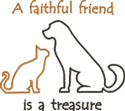 Faithful Friend embroidery design