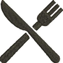 Knife & Fork embroidery design