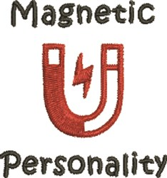 Magnetic Personality embroidery design