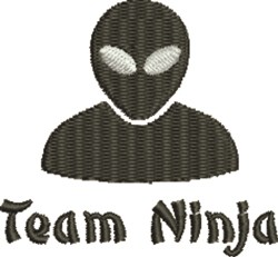 Team Ninja embroidery design