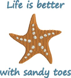 Sandy Toes embroidery design