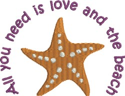 Love And The Beach embroidery design